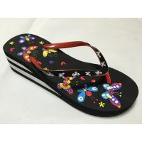 Buy cheap EVA slippers PVC strap EVA outsole butterfly insole womens EVA wedges from wholesalers