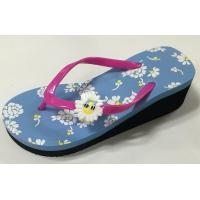 Buy cheap EVA slippers PVC strap EVA outsole high heel ladies EVA slippers wedges from wholesalers