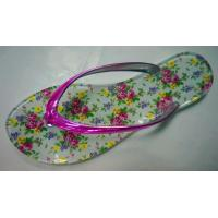 Buy cheap Jelly shoes PVC material flip flop flower print insole latest jelly shoe from wholesalers