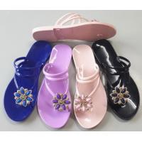 Buy cheap Jelly shoes simple elegant slippers with flower trim ladies jelly shoes from wholesalers