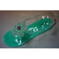 Buy cheap Jelly shoes PVC upper with beautiful flower trim elegant jelly shoes from wholesalers