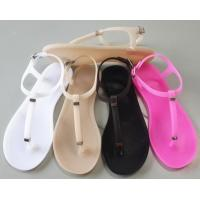 Buy cheap Jelly shoes simple elegant flat sandals ladies jelly shoes from wholesalers