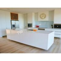Quality corian solid surface glacier white kitchen bench top(TPKT0017) for sale