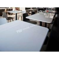 Buy cheap Round edge white color restaurant table and chairs(TPDT055) from wholesalers