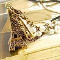 Buy cheap Retro Eiffel Tower Pearl Necklace Tassel from wholesalers