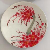China MDF lacquer plate with handpainting on sale
