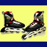 China Speed Runner! Special Semi-Soft Boot Aluminium Inline Skates (89R312A + 89R322A Controllable) on sale