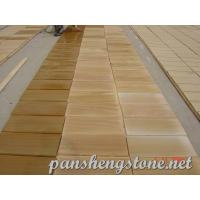 China Yellow wooden Sandstone Tile wholesale
