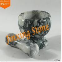 Buy cheap Grey Marble Mortar and Pestle, Marble Kitchenware, Stone Cooking Tool Mortar product