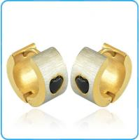 Buy cheap ER11067 Stainless Steel Hoop Earrings with Cutting Heart Pattern product