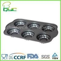 Buy cheap Non-Stick Carbon Steel 6 Hole Flower Shape Muffin Baking Tin product
