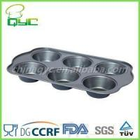 Buy cheap 6 cup jumbo muffin pan Non-Stick Carbon Steel 6 Big Cup Jumbo Muffin Tray product