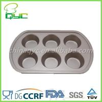 Buy cheap Non-Stick Carbon Steel 6 Cups Muffin Tray product