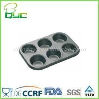 Buy cheap 6 cup muffin pan Non-Stick Carbon Steel 6 Cups Muffin Pan product