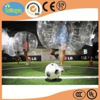 Buy cheap hot sale crazy 1.0mm TPU roll inside bubble ball soccer/soccer bubble ball/bubble football for sale product
