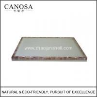 Buy cheap Hotel Resin Amenity Tray with Pink Shell product