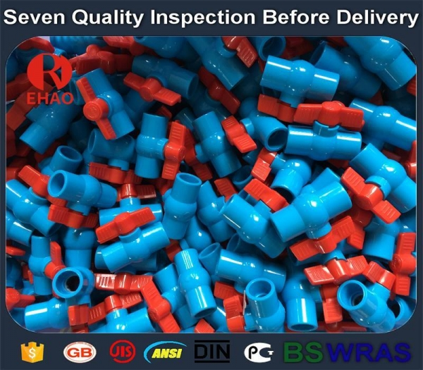 """Quality 3""""(90mm) round compact PVC ball valve glue end , Plastic ball valve for sale"""