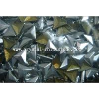 Buy cheap 8mm silver hot fix triangle pyramid studs from wholesalers