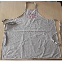Buy cheap Apron high quality wedding/customized 100% cotton vintage apron in beige color with embroidery product