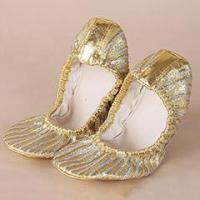 Buy cheap Belly Dance Practice Gold Shoes With Shoes Bag,Women Belly Dance Shoes Accessory product