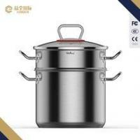 Buy cheap 22cm Double Handle Soup Boiling Pot with steamer from wholesalers
