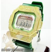 China Mens Cz G-lide Green G-shock Watch 4.00ct on sale