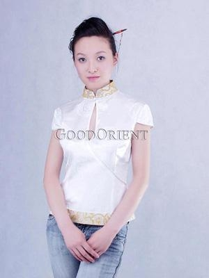 Quality Cool Summer White Silk Blouse for sale