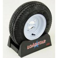 Buy cheap Trailer Tire 4.80 x 8 on White Painted Wheel 590lb 4 Lug Rim by Loadstar product