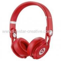 China Beats by Dr Dre Beats Mixr Powerful Lightweight DJ On Ear Headband Headphones All red wholesale