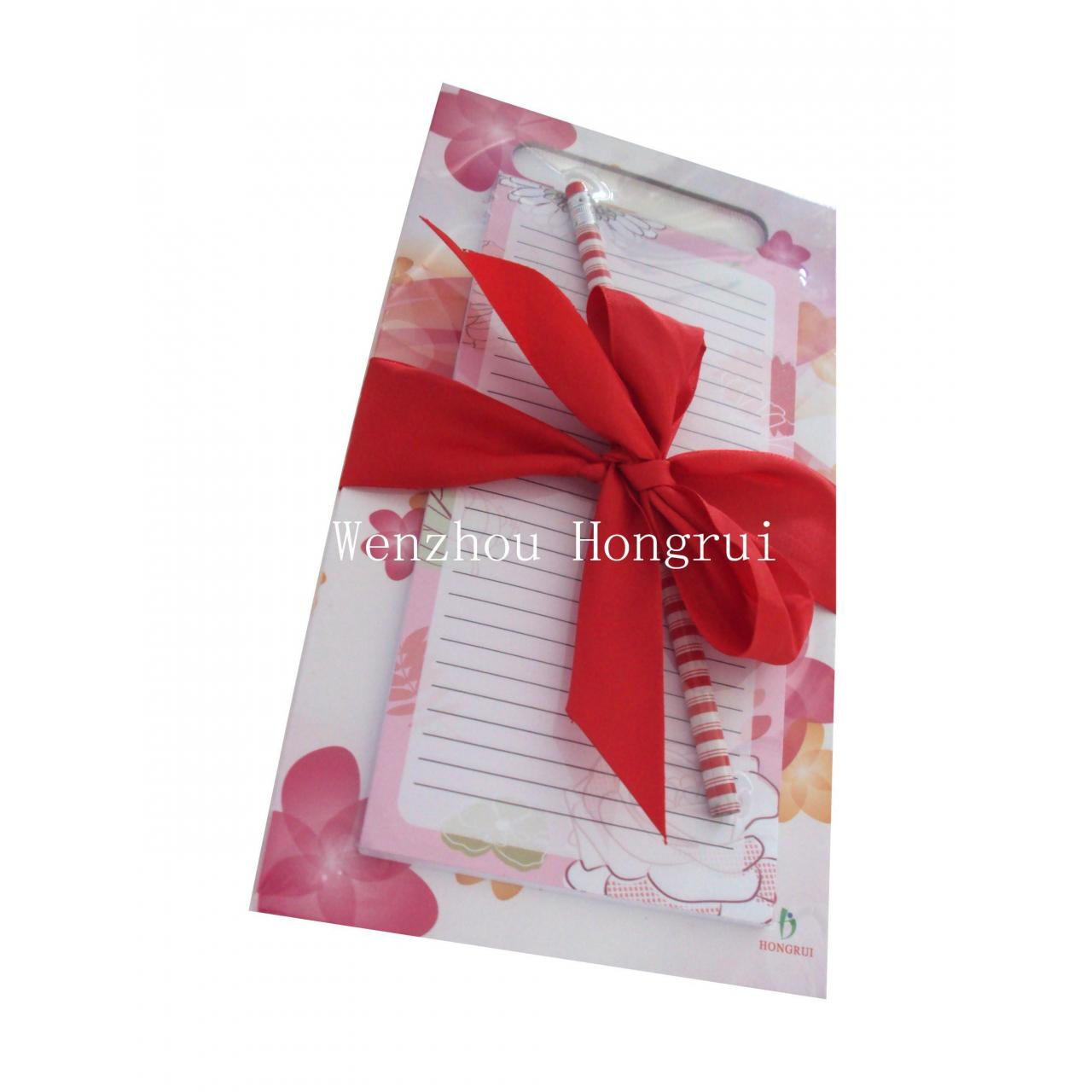 China Magnet memo pad set with pencil on sale
