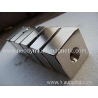 Buy cheap N33SH N35SH N38SH Permanent NDFEB Magnet Block With Hole product
