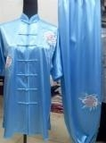 Quality Stand-Up Collar & Frog Button Kungfu Uniform/Blue for sale