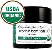 Buy cheap Herbal Choice Mari Organic Bath Salts Health Spa for Your Body 125g / 4.4oz Glass Jar product