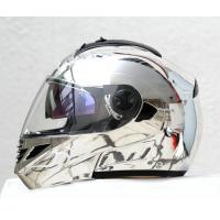 China Silver Chrome DOT /ECE Full Face Flip-Up Motorcycle Helmet on sale