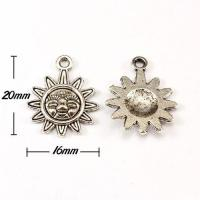 Charm, antiqued silver-finished pewter (zinc-based alloy), 16x20mm sun. Sold per pkg of 10pcs for sale
