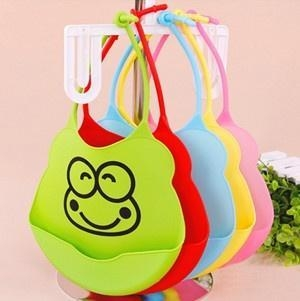 Quality Hot Selling Customization Silica Gel Rice Pocket Silicone Waterproof Bibs for sale
