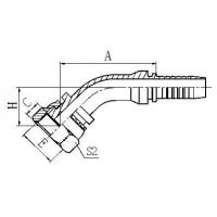 Buy cheap Swaged American Hose Fittings 24241-06-04T product