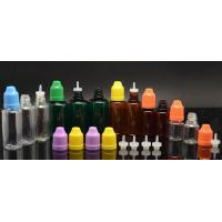 China Colored Hot Sale E-cigarette plastic dropper bottle with long thin tip and child proof cap on sale