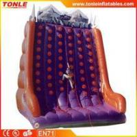 China inflatable kids and adults Cliff Hanger Climbing wall/ outdoor rock climbing walls for sale on sale