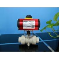 China Pneumatic actuator with PVC ball valve on sale
