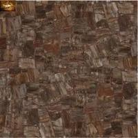 Dark color look stone style porcelain polished tile made in china 600x600 for hotel