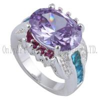 OAR0291 Chinese factory price silver jewelry with CZ
