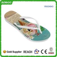 Buy cheap Rubber Beach Sandals Flip Flops With Custom Strap product