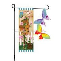 Buy cheap Custom Batterfly Decorative Garden Flag from wholesalers