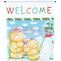 Buy cheap Custom sulimation bear garden flag from wholesalers