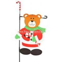 Buy cheap Personalized Garden Flags Custom bear with stick flag from wholesalers