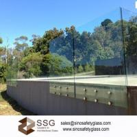Buy cheap Glass pool fencing 12mm toughened glass with safety corner and polished edges product