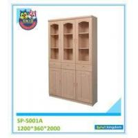 China BABY FURNITURE office furniture teak wood bookcase with glass door#SP-S001A on sale