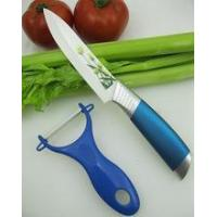 "5"" Flower Painting Ceramic Knife with Peeler"