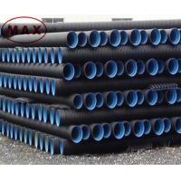 China Material pe 100 black double wall corrugated pipe wholesale